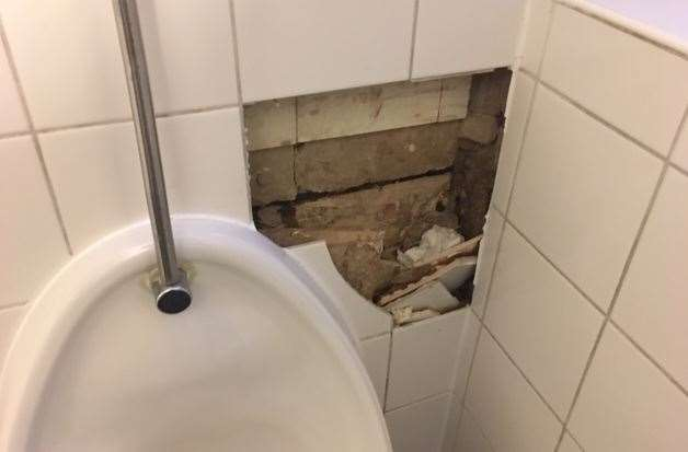The toilets need a bit of repair work