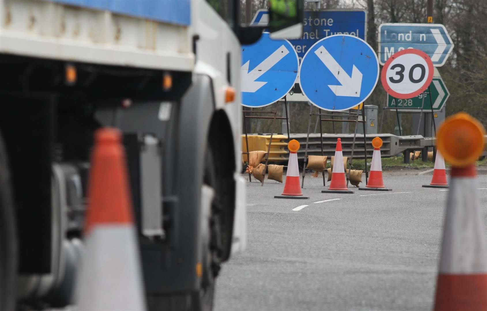 The M20 closures will run until mid-March