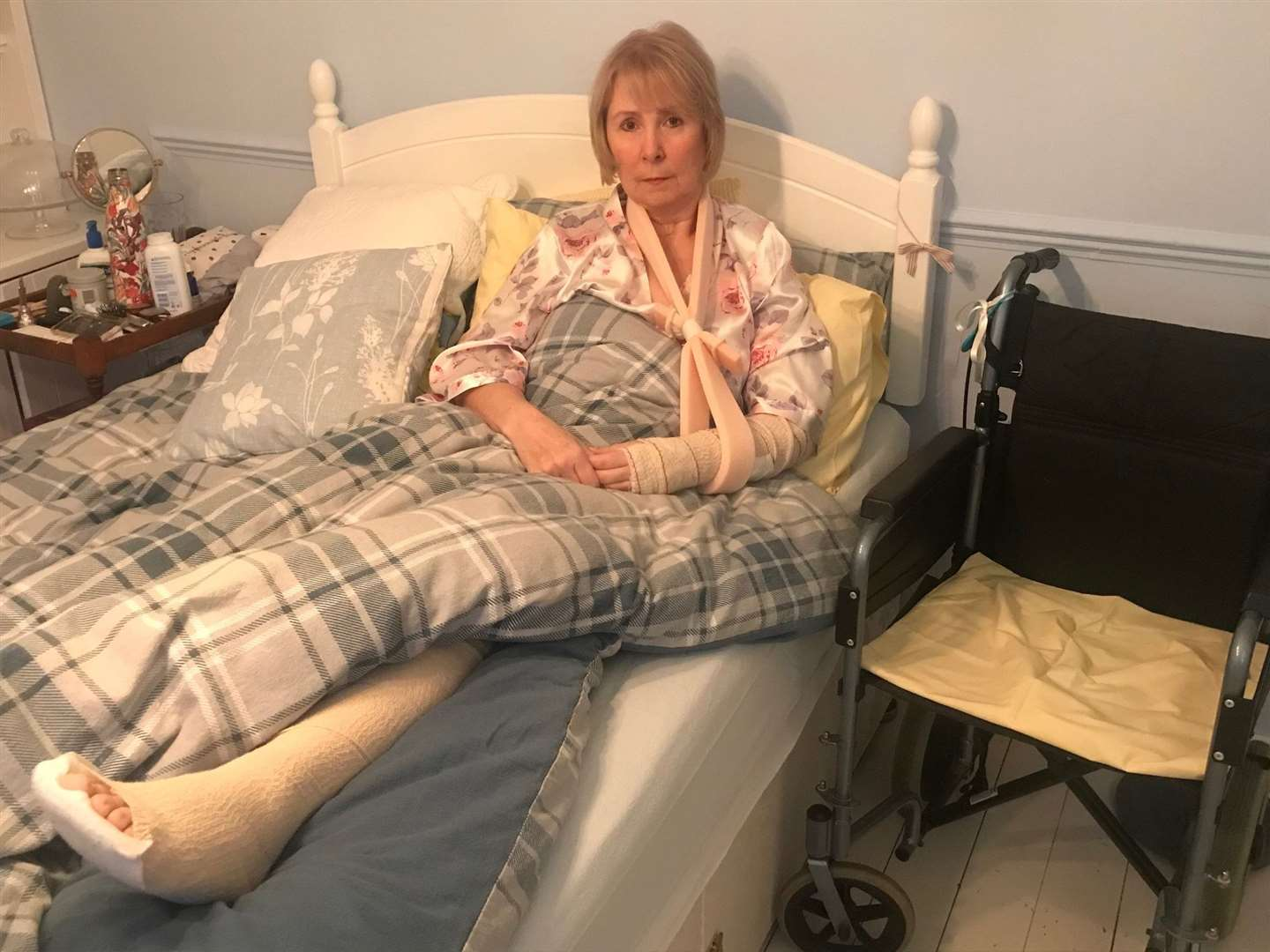 Pauline Lilford was badly injured when Mpia crashed into her on an e scooter in Canterbury in November. Picture: Mike Lilford
