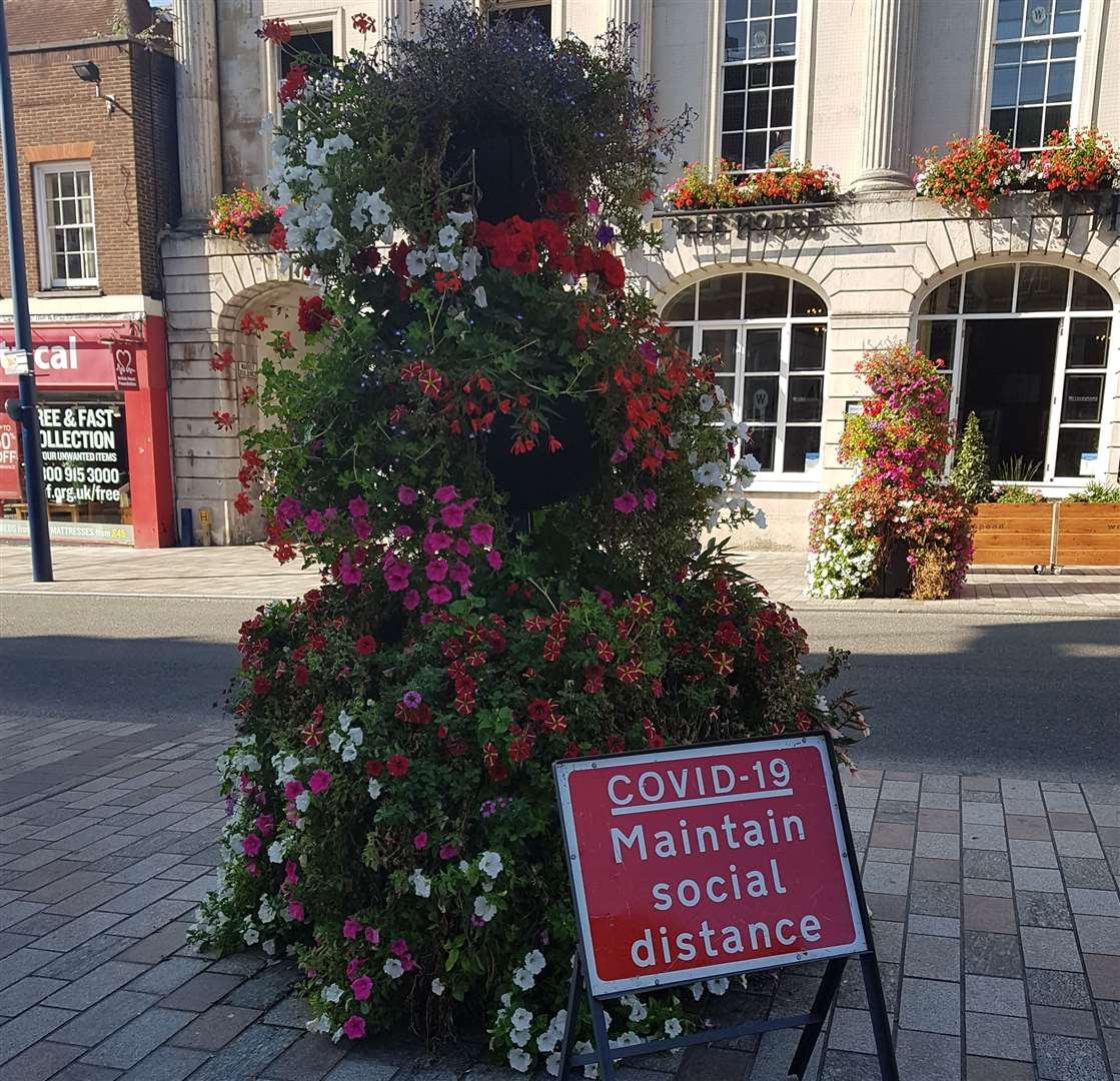 Signs have been put in place around Maidstone town centre
