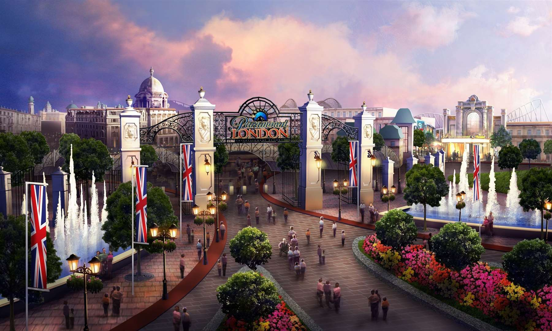 How the London Resort was originally to have looked before Paramount initially pulled out of the project