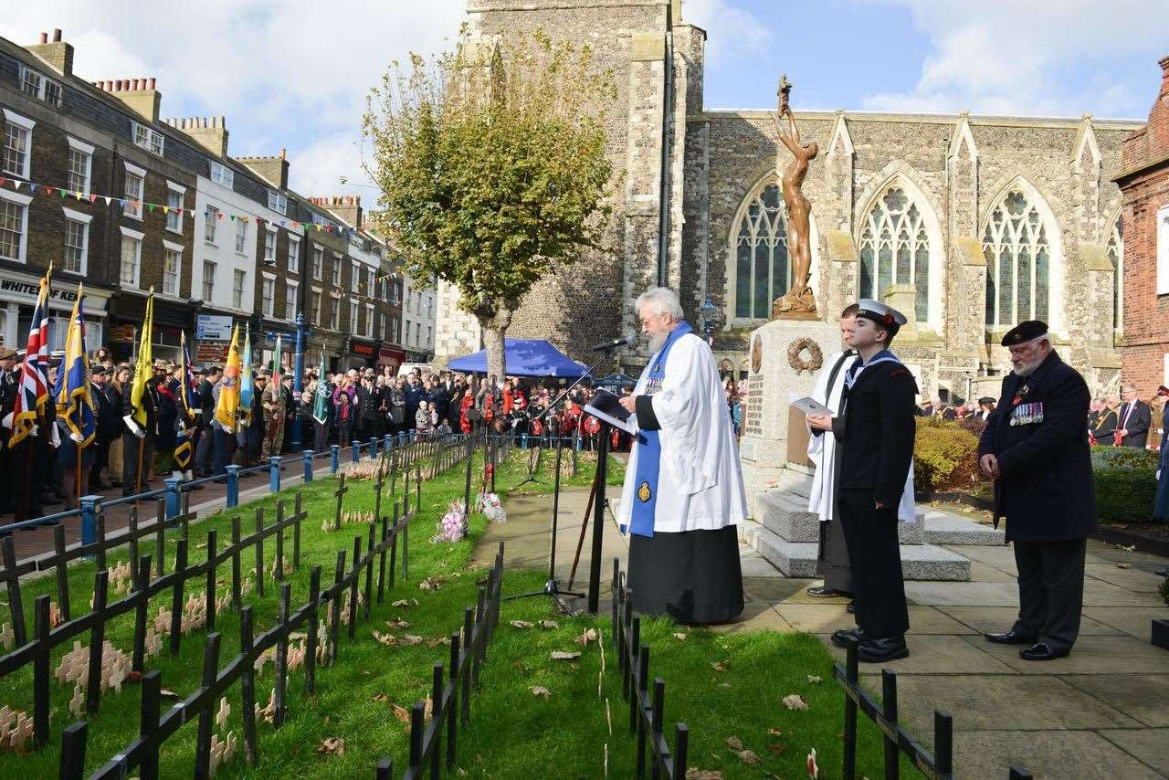 The service in Dover last year. Picture: Dover Town Council