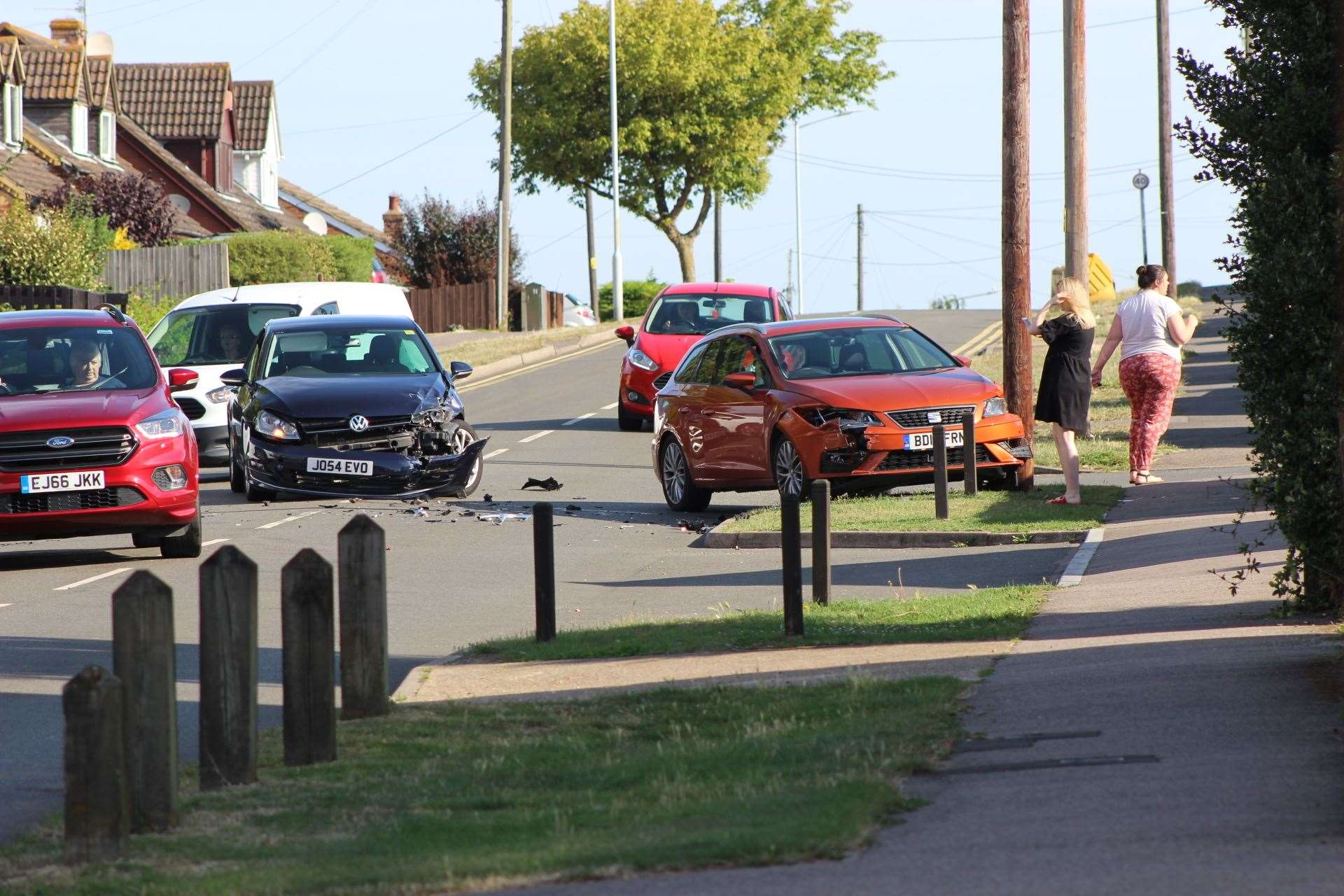 A two-car crash in The Broadway, Minster, ended up closing the road for three hours (14962238)