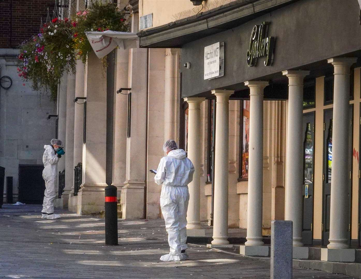 Police and forensics outside the Gallery Nightclub. Picture: Jim Bennett