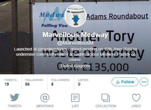The Marvellous Medway account on Twitter was set up immediately after the council meeting