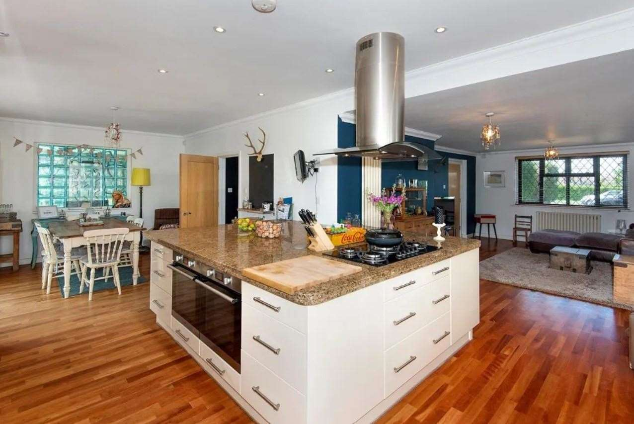 The open plan kitchen/breakfast room/lounge is described as the 'hub' of the home. Picture: Zoopla / Miles & Barr