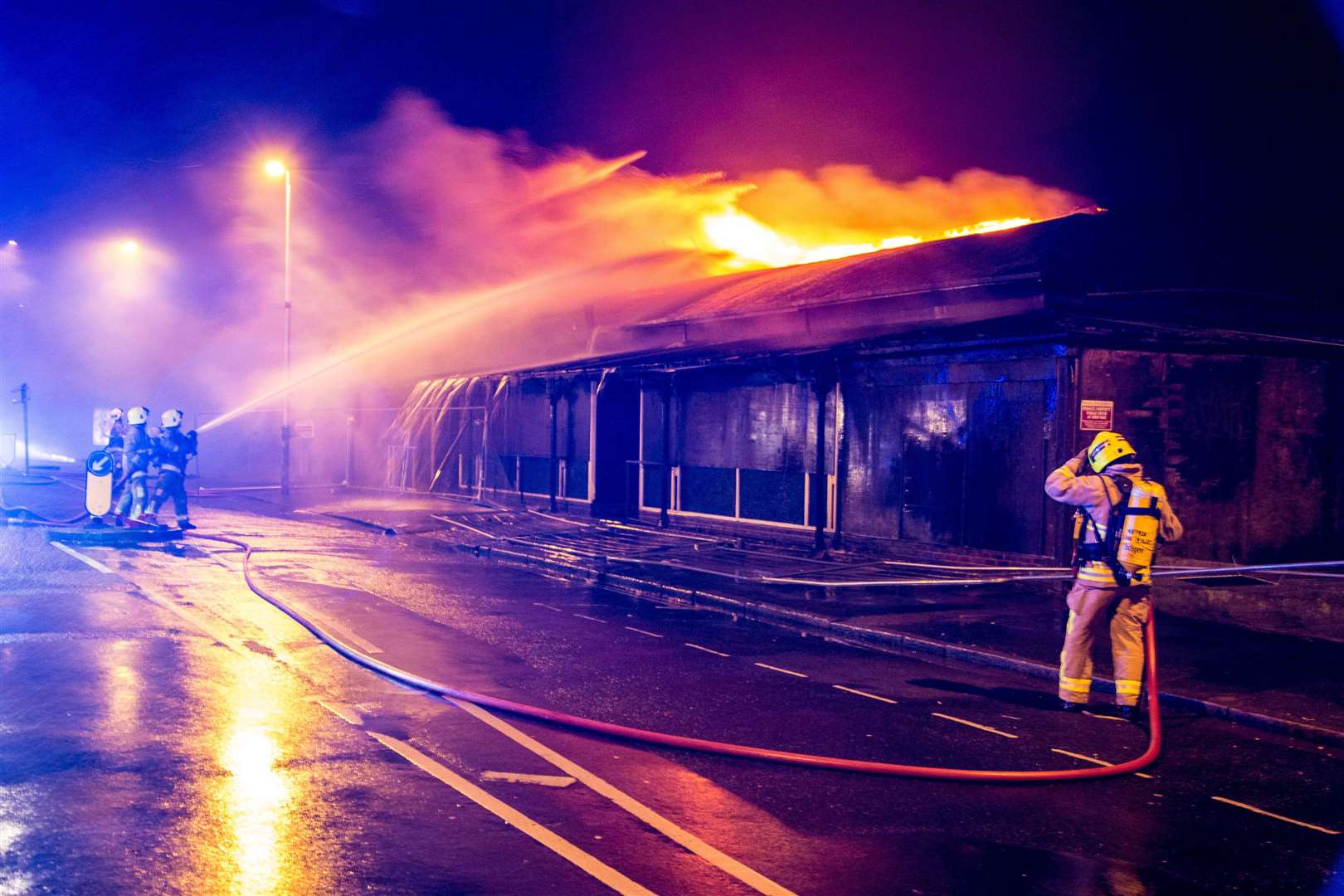 Folkestone photographer Dan Desborough captured some stunning images of the Onyx fire at its height