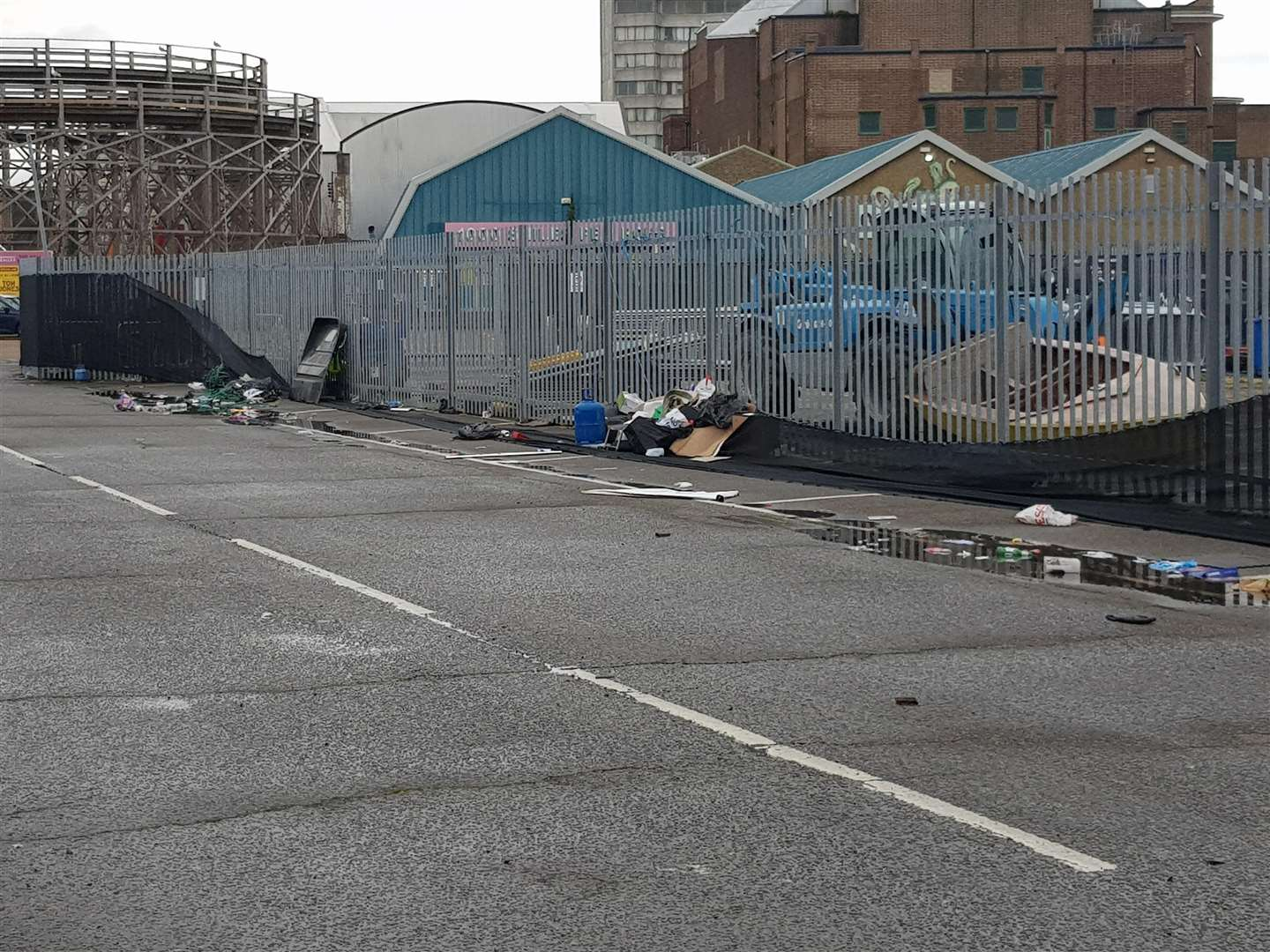 Residents and business were angry at the amount of rubbish and human waste reportedly at the site in Margate