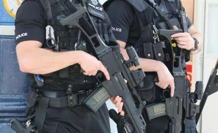Armed police were in Rochester last night. Stock picture