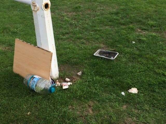 Residents claim motorhome users would leave behind rubbish Picture: Pip Bailey