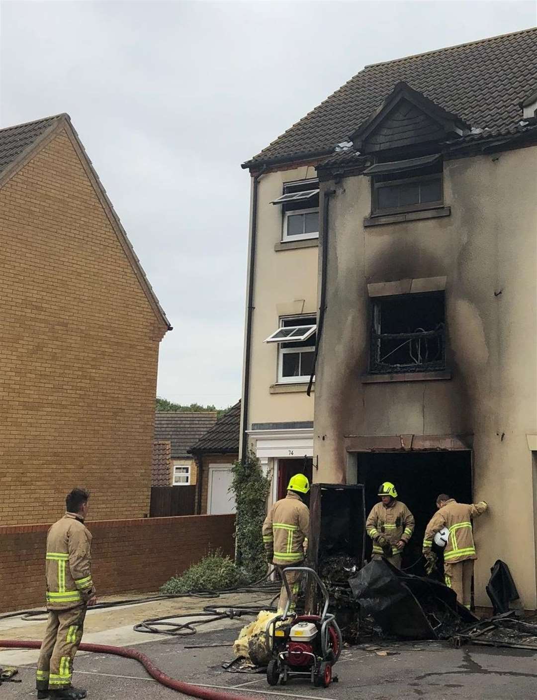 The damage from the fire in Monarch Drive, Kemsley. Picture: Sabina Kazancevova