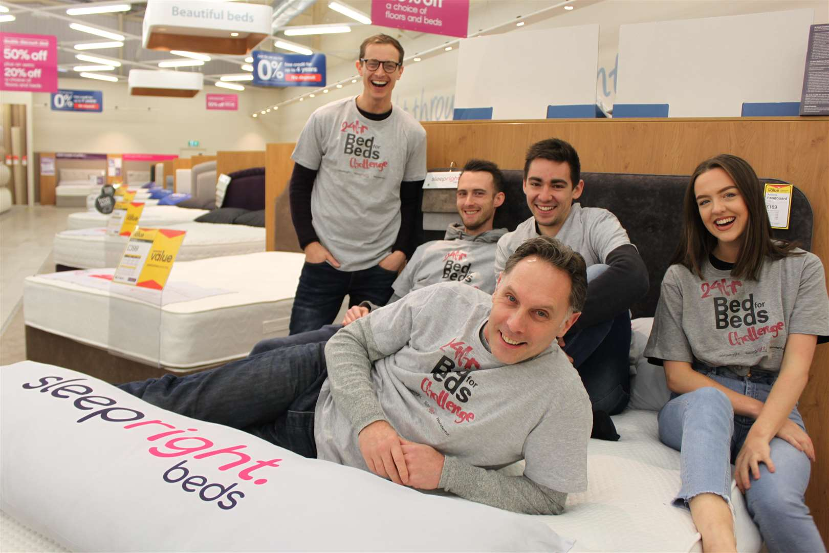 Staff from the Wonderful Creative Agency staged a 24-hour sleepathon at Carpetright on Saturday (6066427)