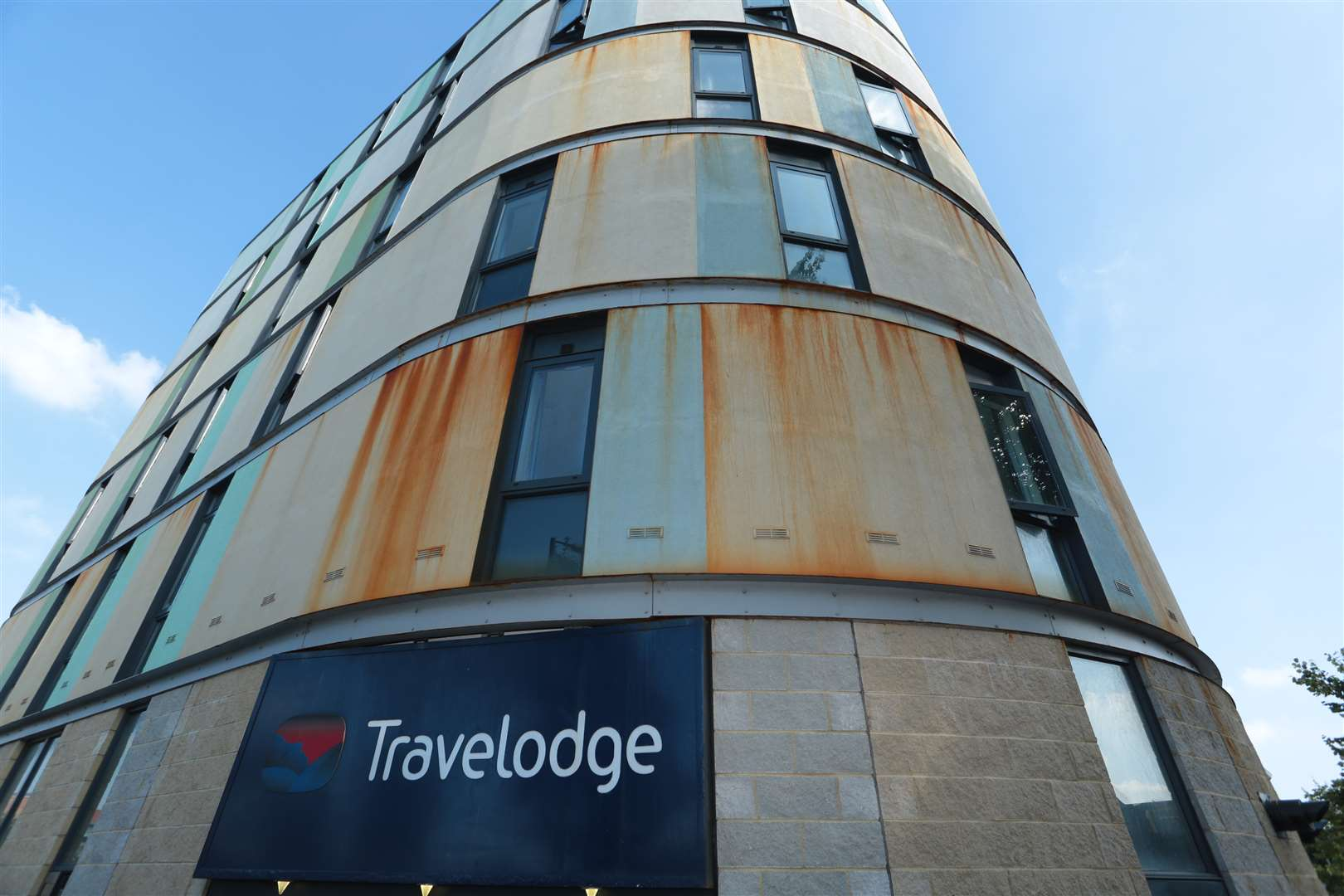 The Travelodge in Maidstone and its offending rust stains