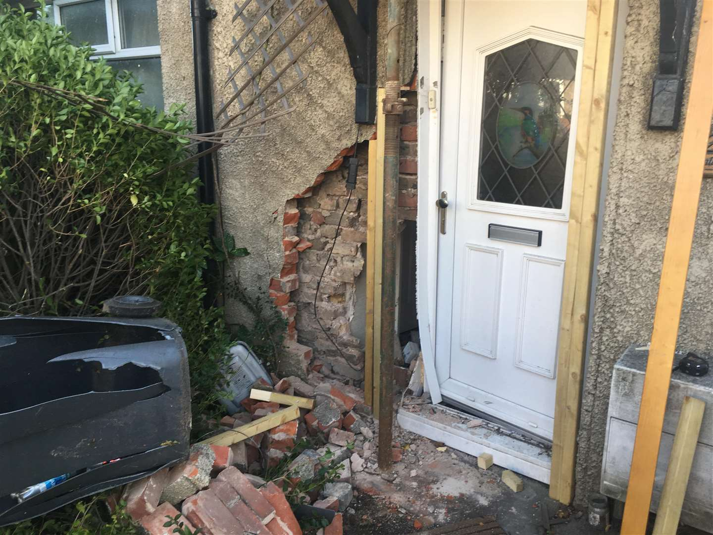 The damage caused to the house in Sturry Road. (4758687)