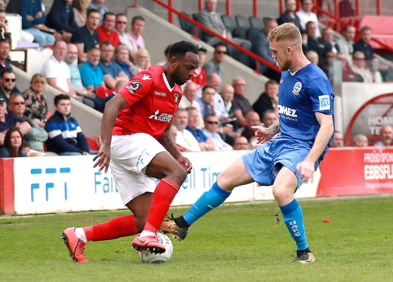 Ebbsfleet and Dover will go head-to-head in the National League Picture: Phil Lee