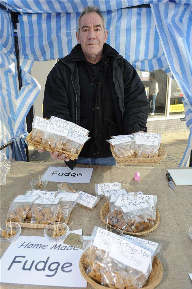 Steve Timms with his home made fudge