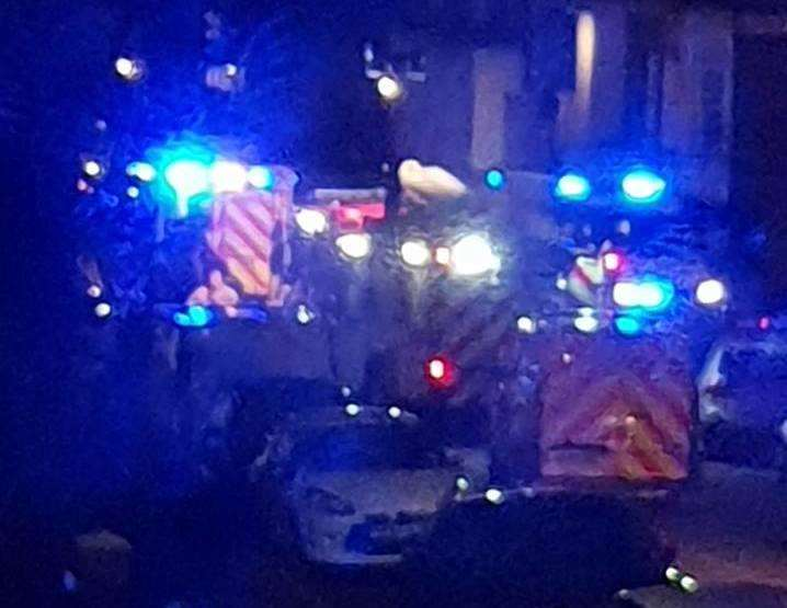 Police in Sweyn Road in Margate. Picture: Andy Aldworth