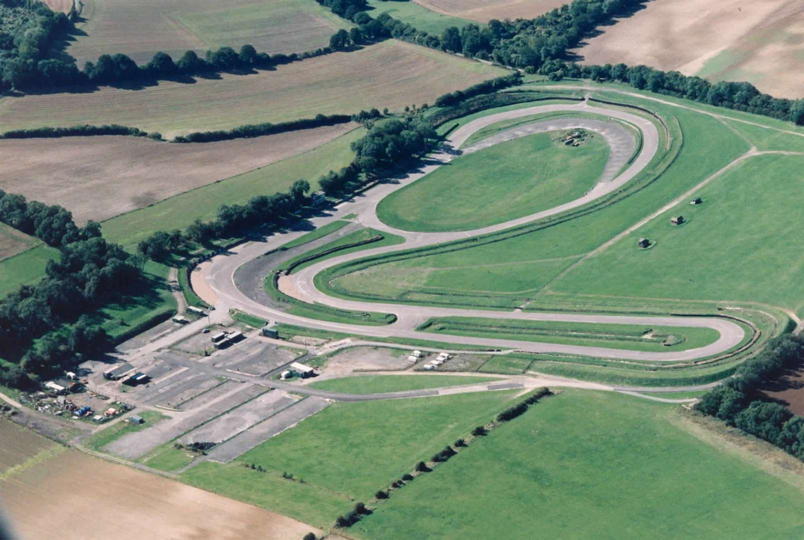 Eye in the sky: an aerial view of Lydden Hill - the UK's shortest circuit - in September 1995