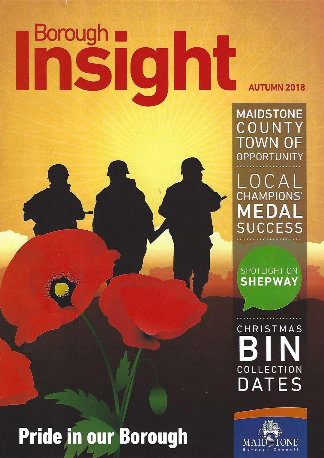 The cover of Maidstone Borough Council's Insight magazine has been criticised (5308859)