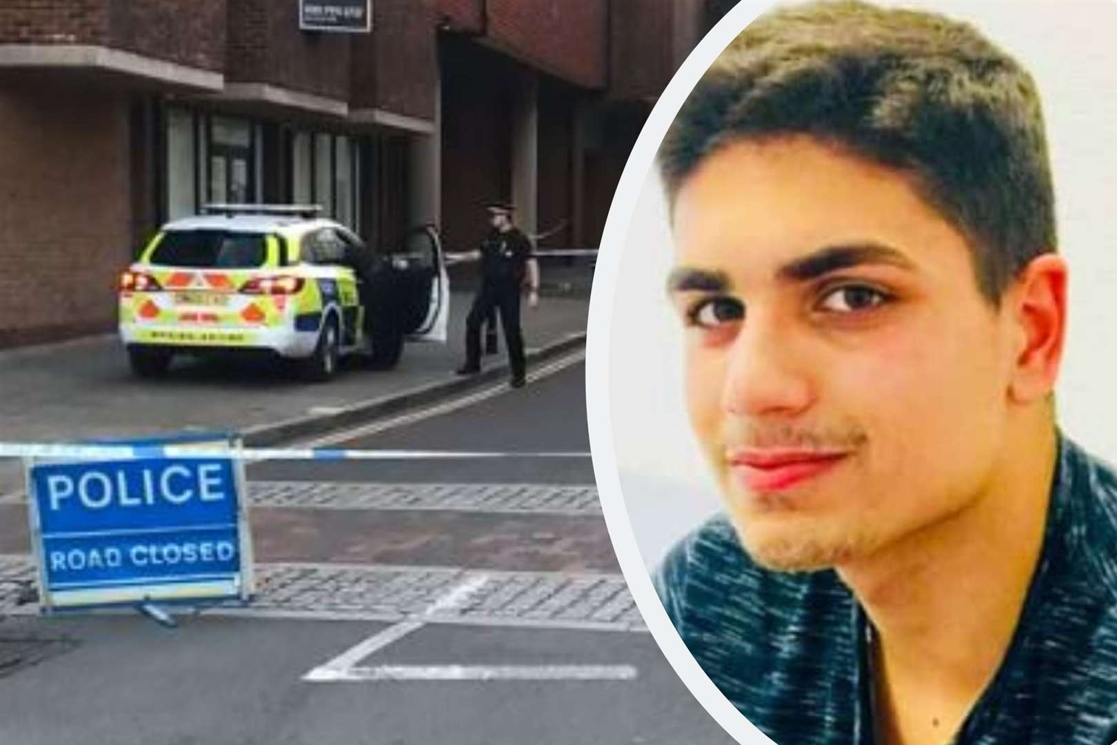Police cordoned off Rose Lane following the attack on Daniel Ezzedine, pictured before the 2019 attack