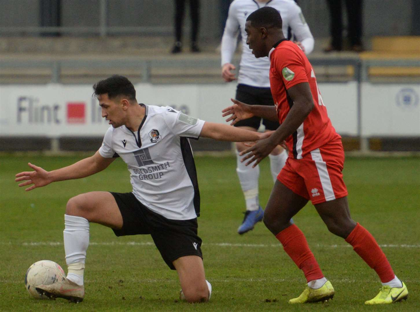 Debutant Noor Husin in action for Dartford against Eastbourne on Saturday. Picture: Chris Davey FM29882273