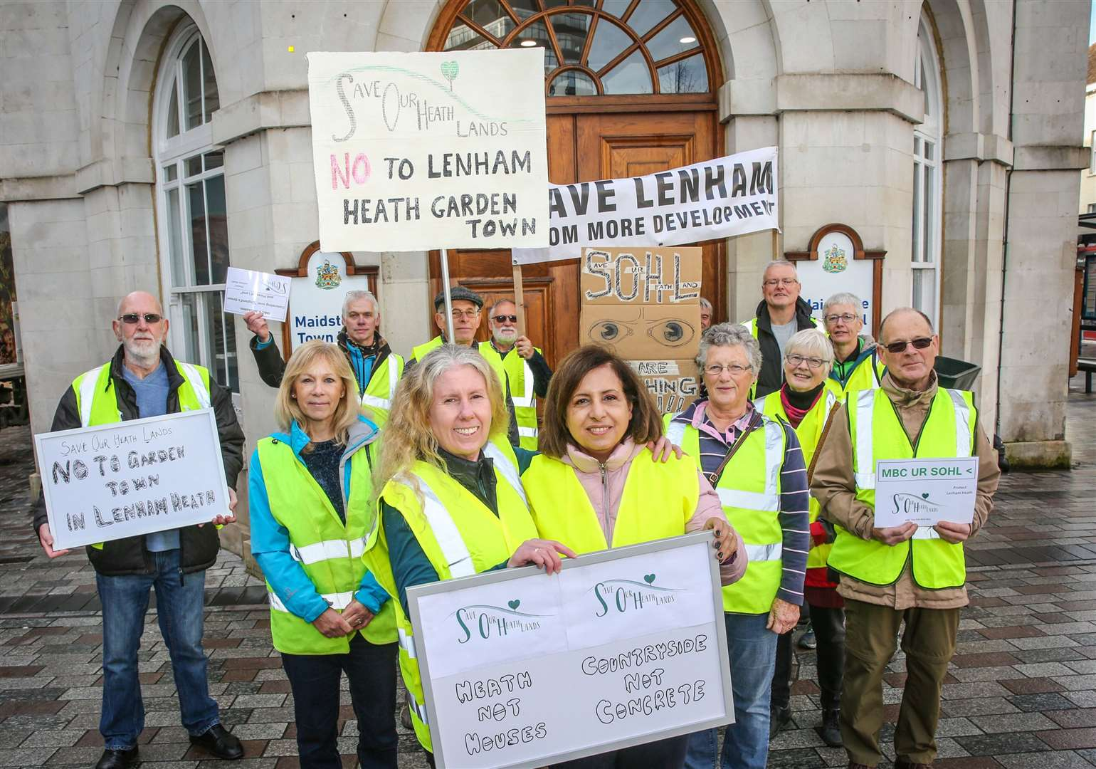 A march against proposals to build a 5,000 home development near Lenham Picture: Matthew Walker