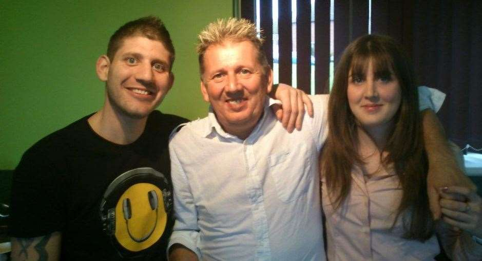 Daniel Fullagar was found dead in Spain, right, pictured with his dad Nick and sister Kirsty