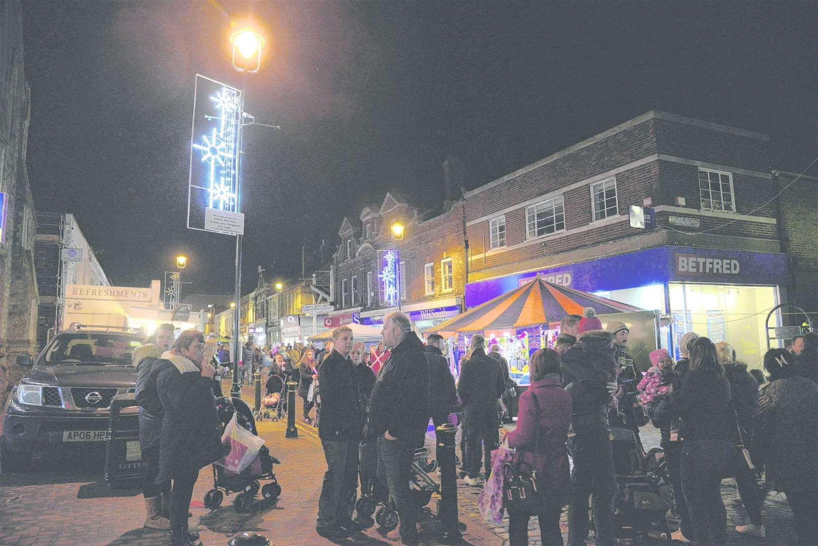 The Christmas Lights in Sittingbourne on Saturday evening. Picture: Chris Davey FM4126565 (4663829)