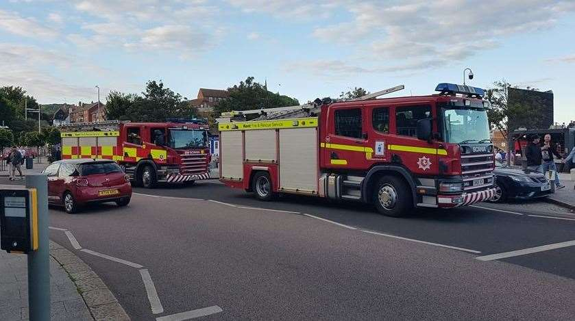 10 fire engines are at the scene. Picture: Nigel Scutt