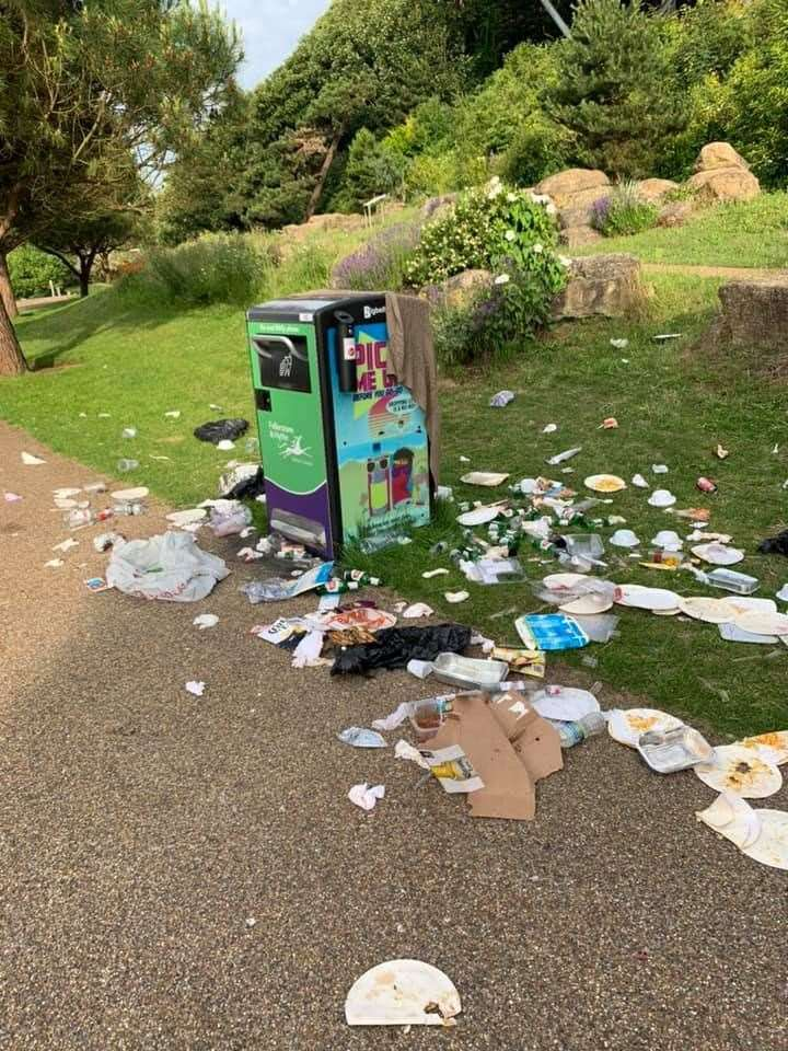 The Big Belly Bin at Folkestone Coastal Park was criticised
