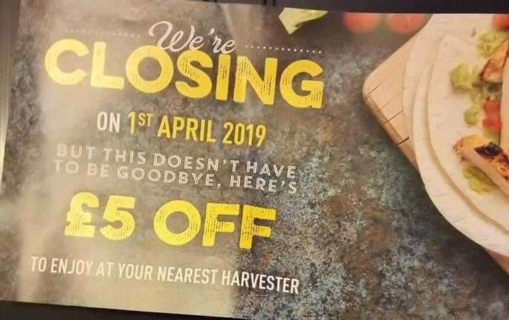 The chain is closing on April 1. Picture: Kaz Groves (7823542)