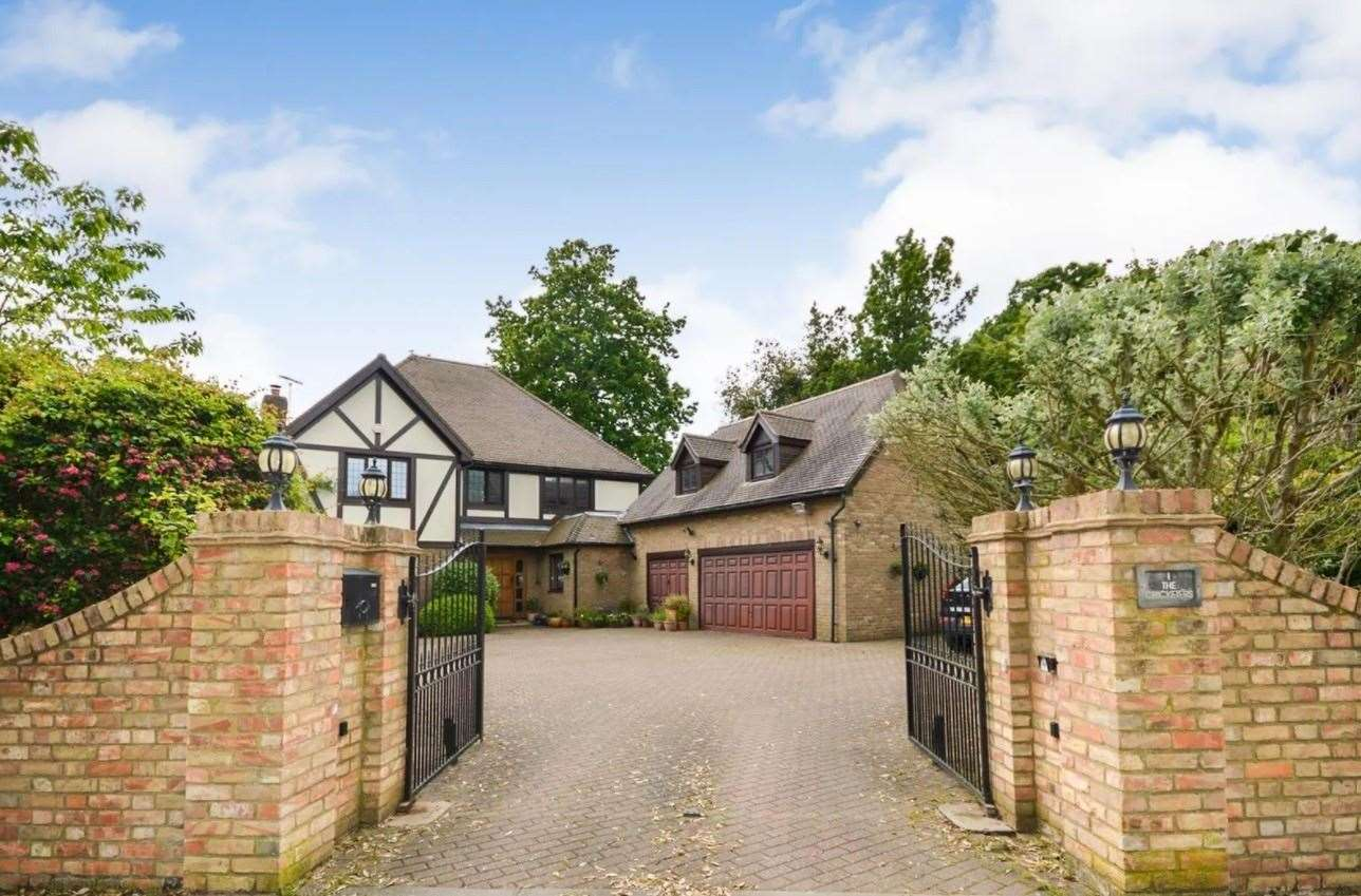 The four-bed detached house in The Cricketers has a gated entrance. Picture: Zoopla / Zest