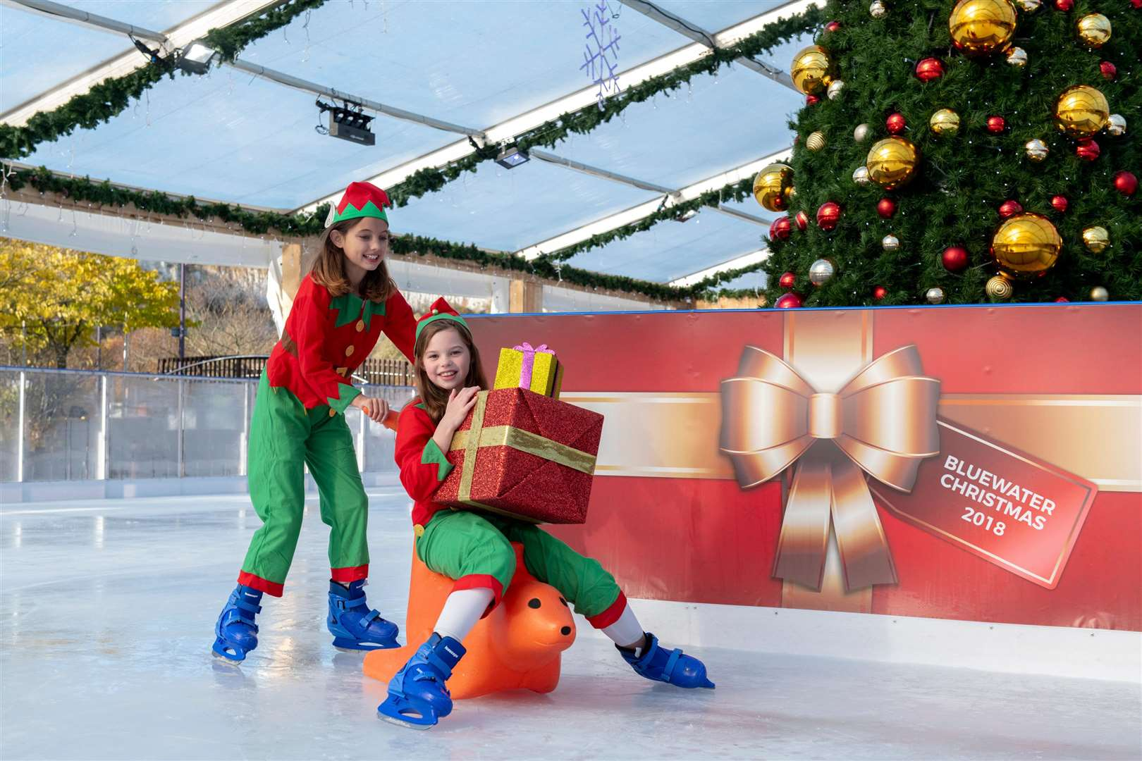 Enjoy the ice rink at Bluewater after parking for free