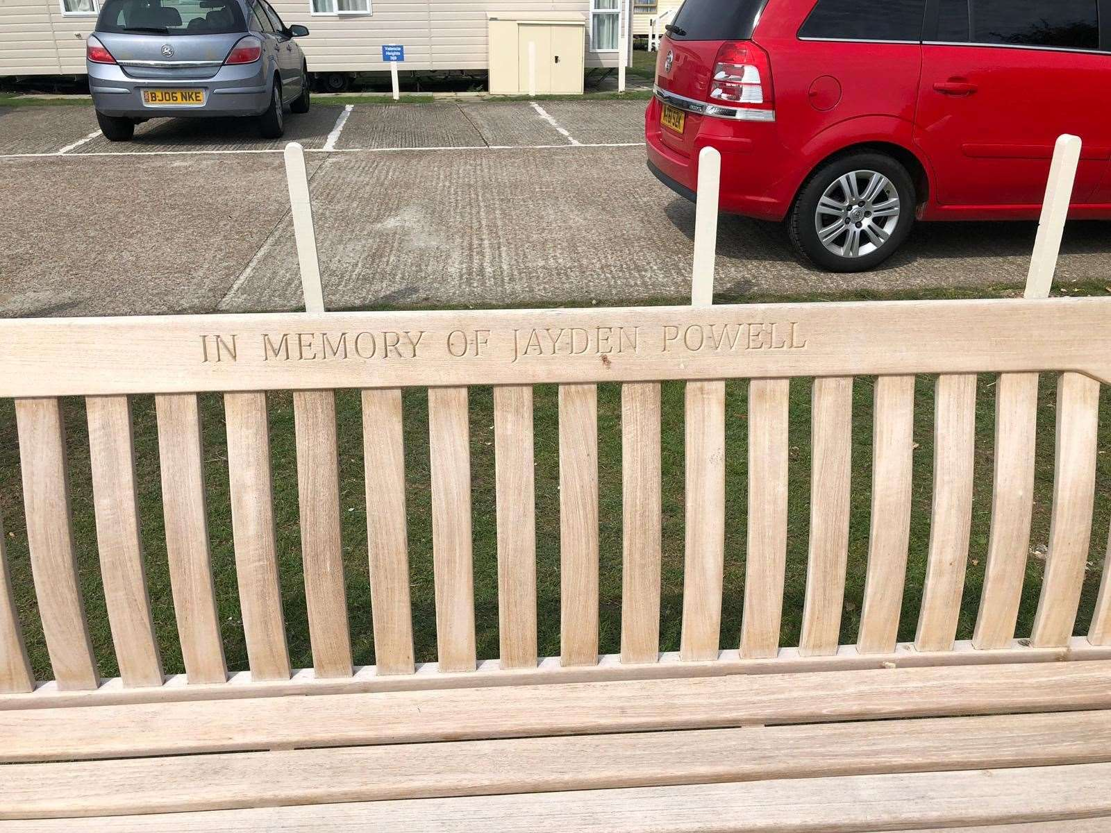 A bench has been installed in Jayden Powell's memory at the Romney Sands holiday park (15012182)