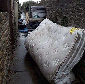 Fly-tipping in Sheerness. Picture: Swale council