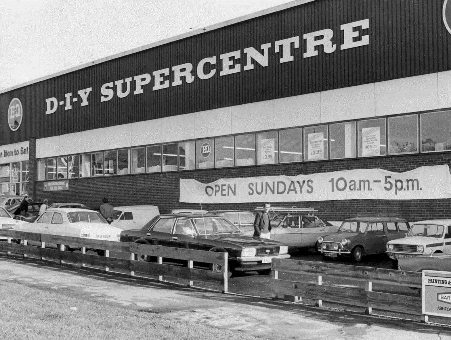 HomePlus was previously B&Q, pictured here in November 1982