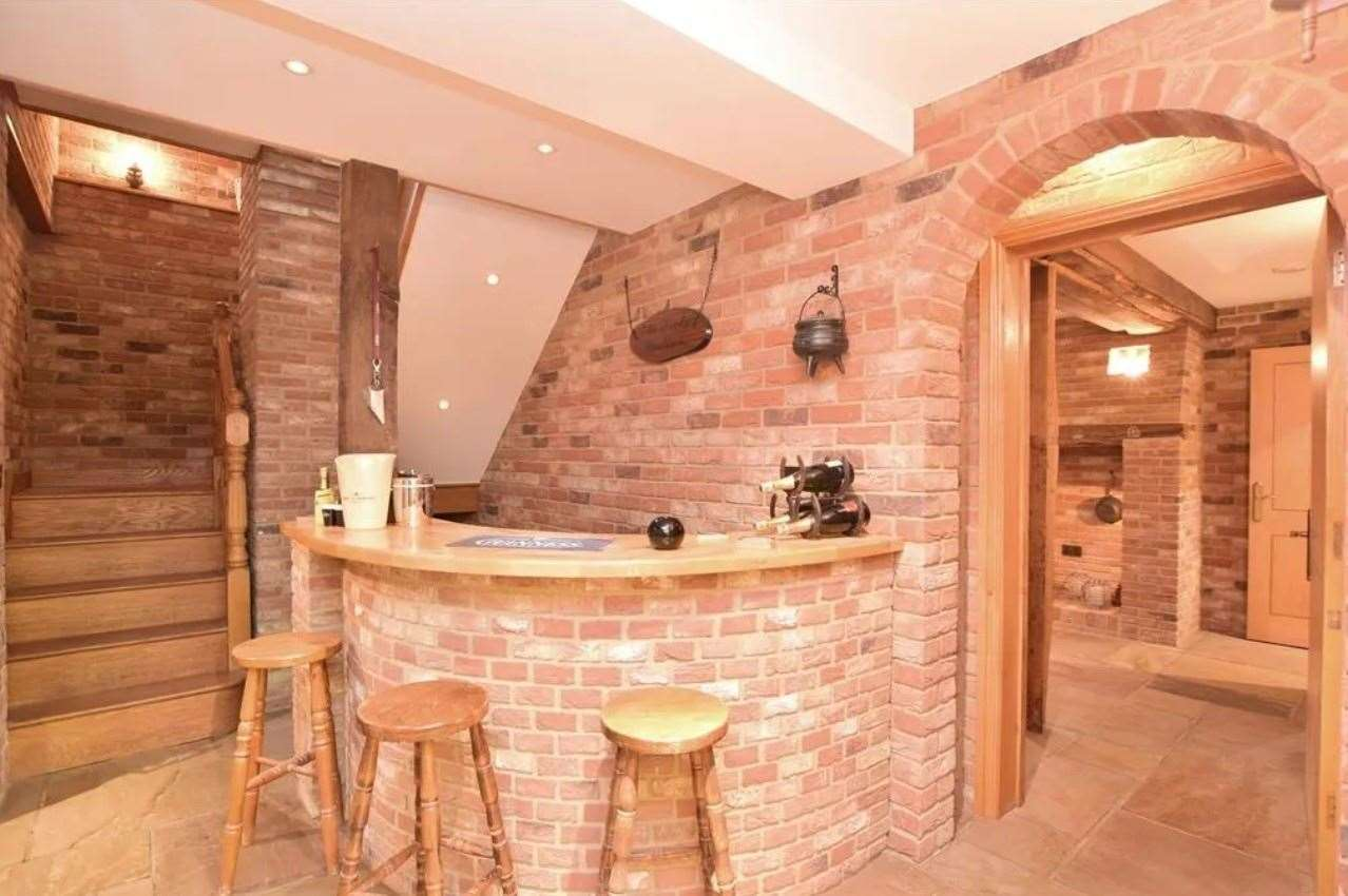 The bar area. Picture: Zoopla / Fine & Country