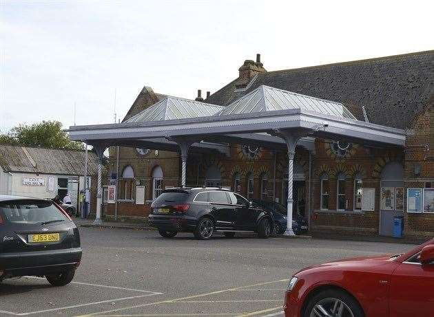 Police were called to Herne Bay Station