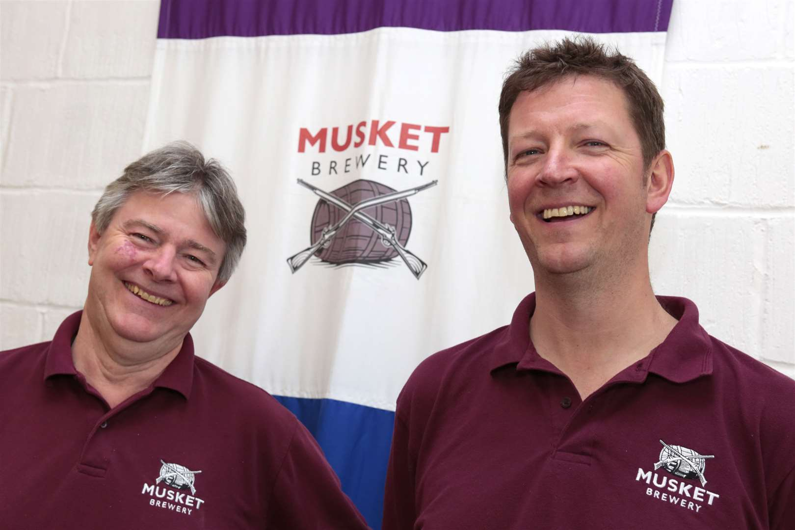 Musket Brewery owners Tony Williams, left, and Mark Stroud