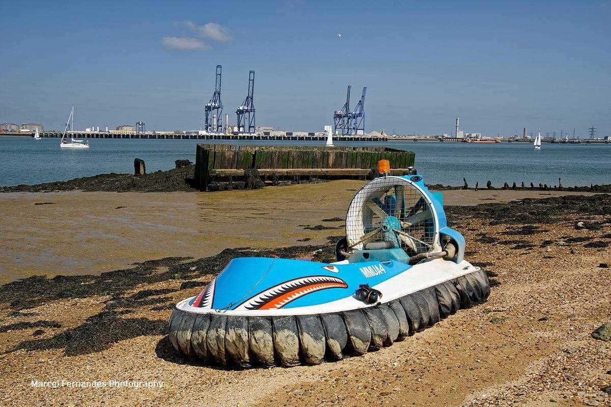 The hovercraft which Marcel took the stunning pictures on. Picture: Marcel Fernandes