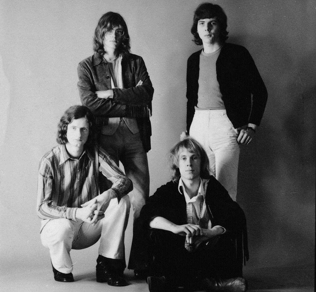 Progressive rock band Caravan pictured in 1970
