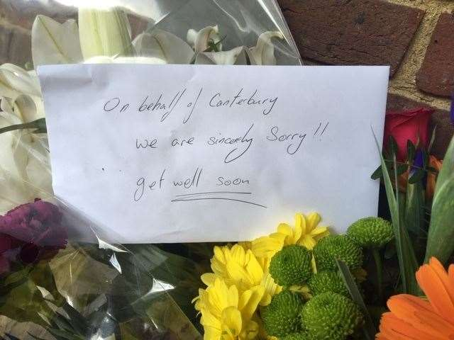 Messages and flowers have been left at the scene of the attack (12148049)