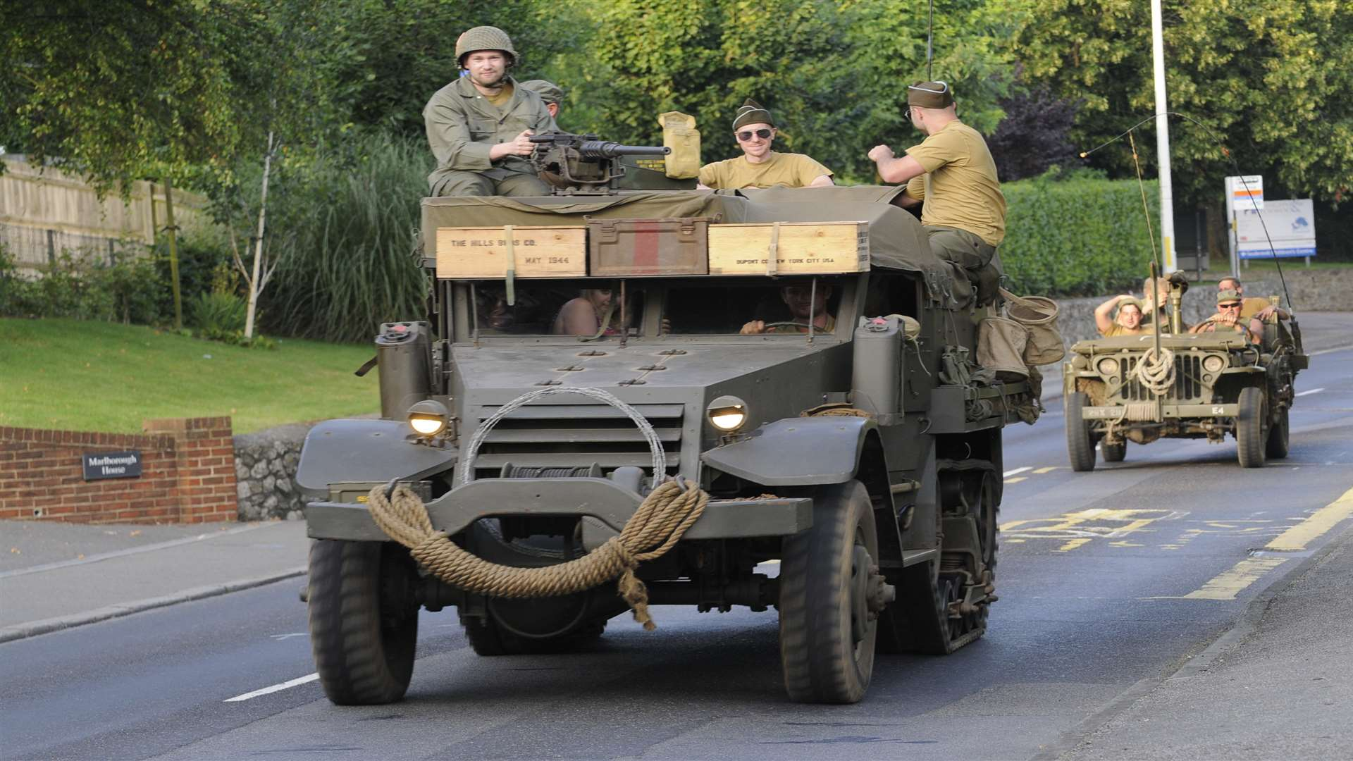 Patton's Parade military convoy through Hythe as part of last year's War and Peace Revival. Picture: Gary Browne