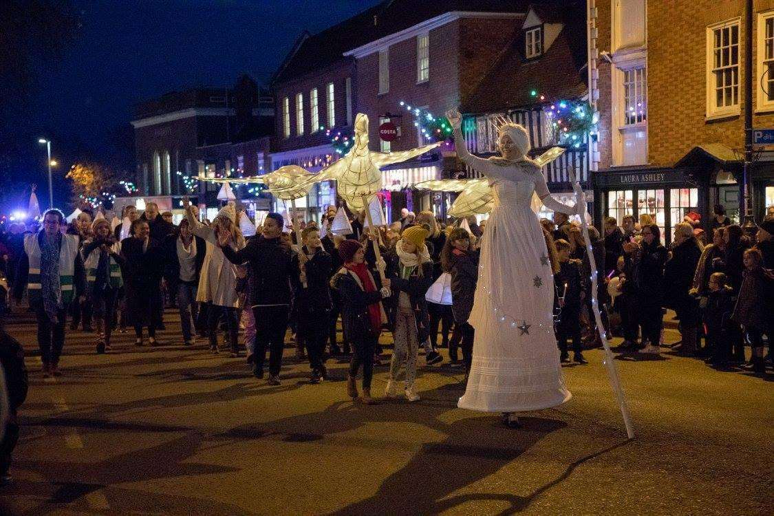 Christmas Lights Parade in Tenterden last year
