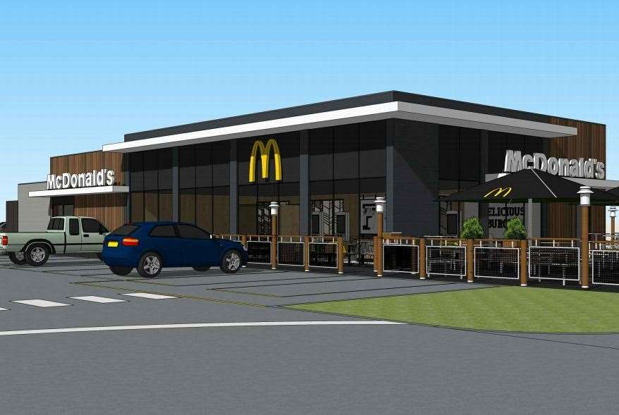 The site was set to become Ashford's fourth McDonald's, featuring 53 car parking spaces