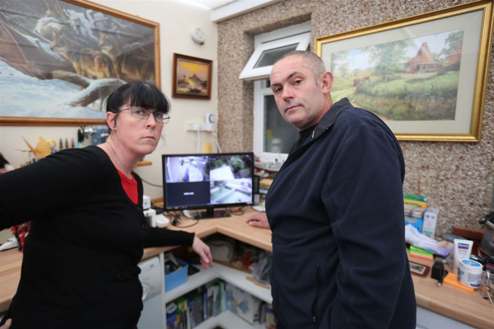 Elaine and Mark Burrows installed CCTV Picture: 5STAR