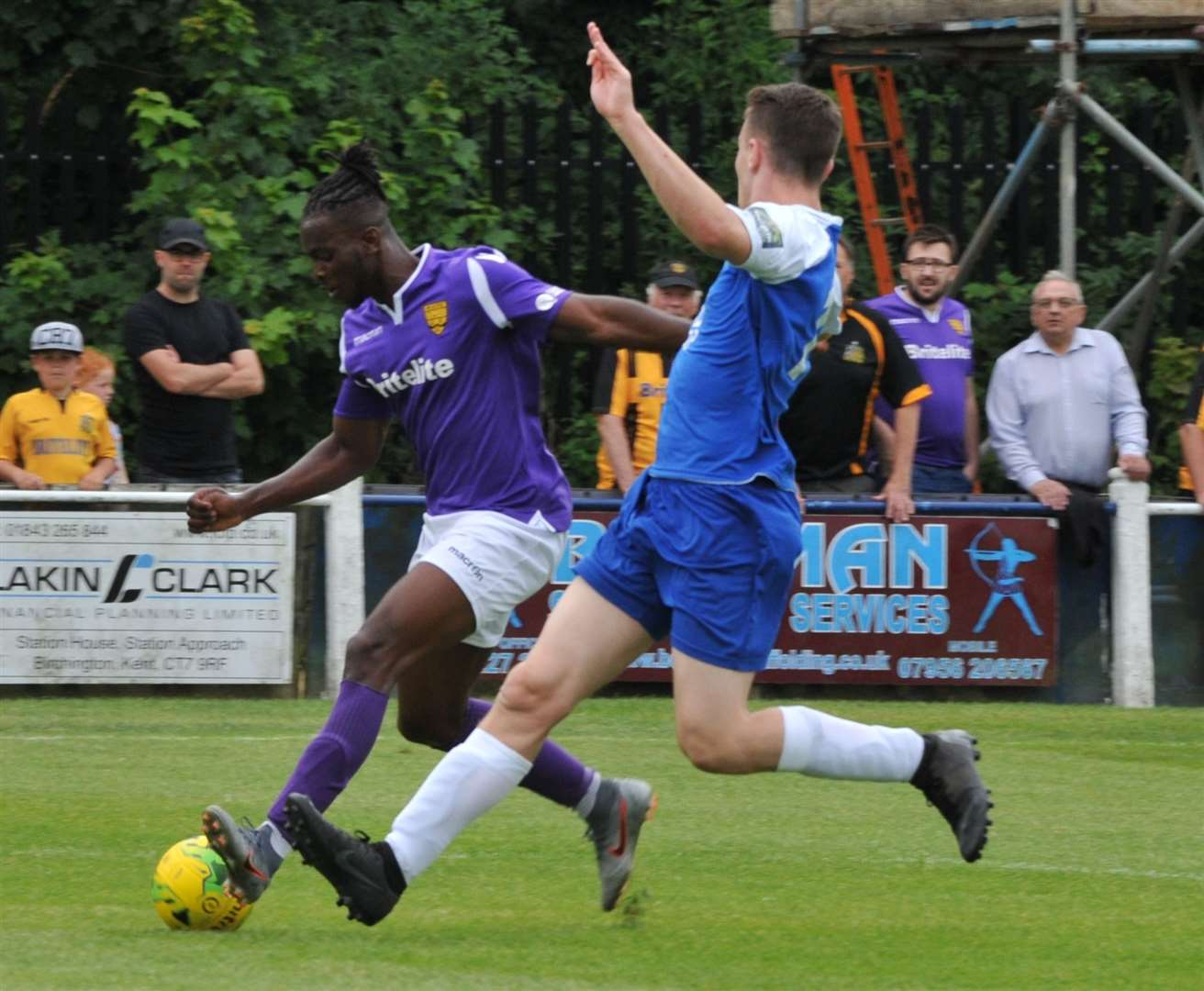Ibrahim Olutade is back at Leatherhead on loan Picture: Steve Terrell