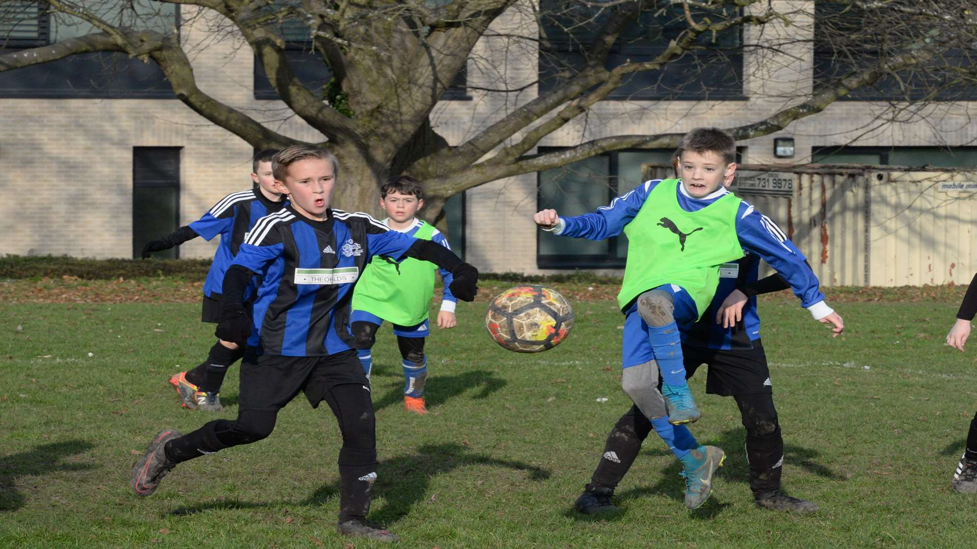 Under-10 sides Omega 92 Olympians and New Road battle it out Picture: Chris Davey