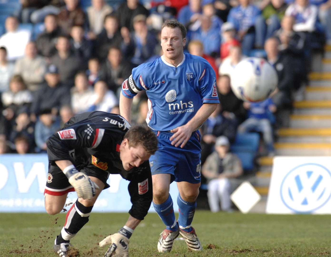 Michael Flynn in action for Gillingham as a player in 2007