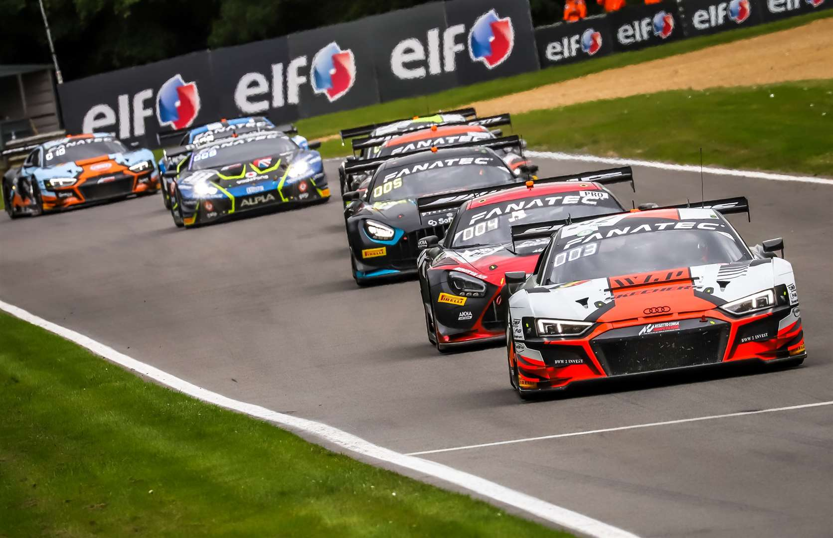The Team WRT Audi crew of Dries Vanthoor and Charles Weerts claimed the title on Sunday – WRT's eighth Sprint Cup crown. Picture: SRO